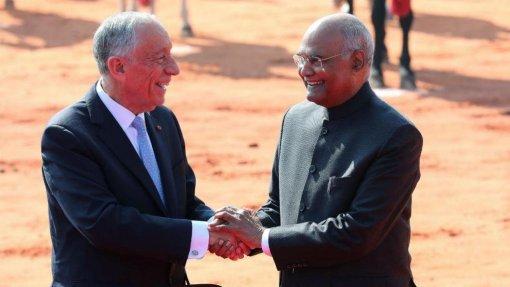 Marcelo defende na Índia colaboração nas alterações climáticas e direitos humanos