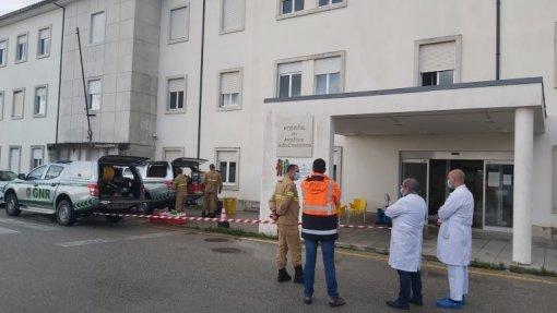 Covid-19: Peritos em matérias perigosas da GNR descontaminaram ala do hospital de Cantanhede