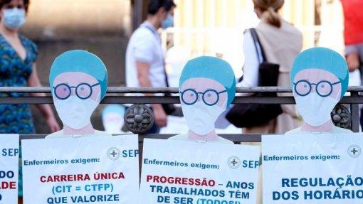 "Enfermeiros do Garcia de Orta protestam pelo ""descongelamento das progressões"" - Sindicato"