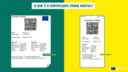 Covid-19: Portugal está a ultimar certificado verde digital - Governo