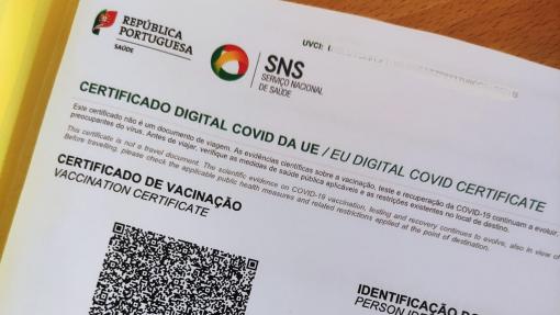 Covid-19: Mais de 400 mil certificados digitais já emitidos em Portugal